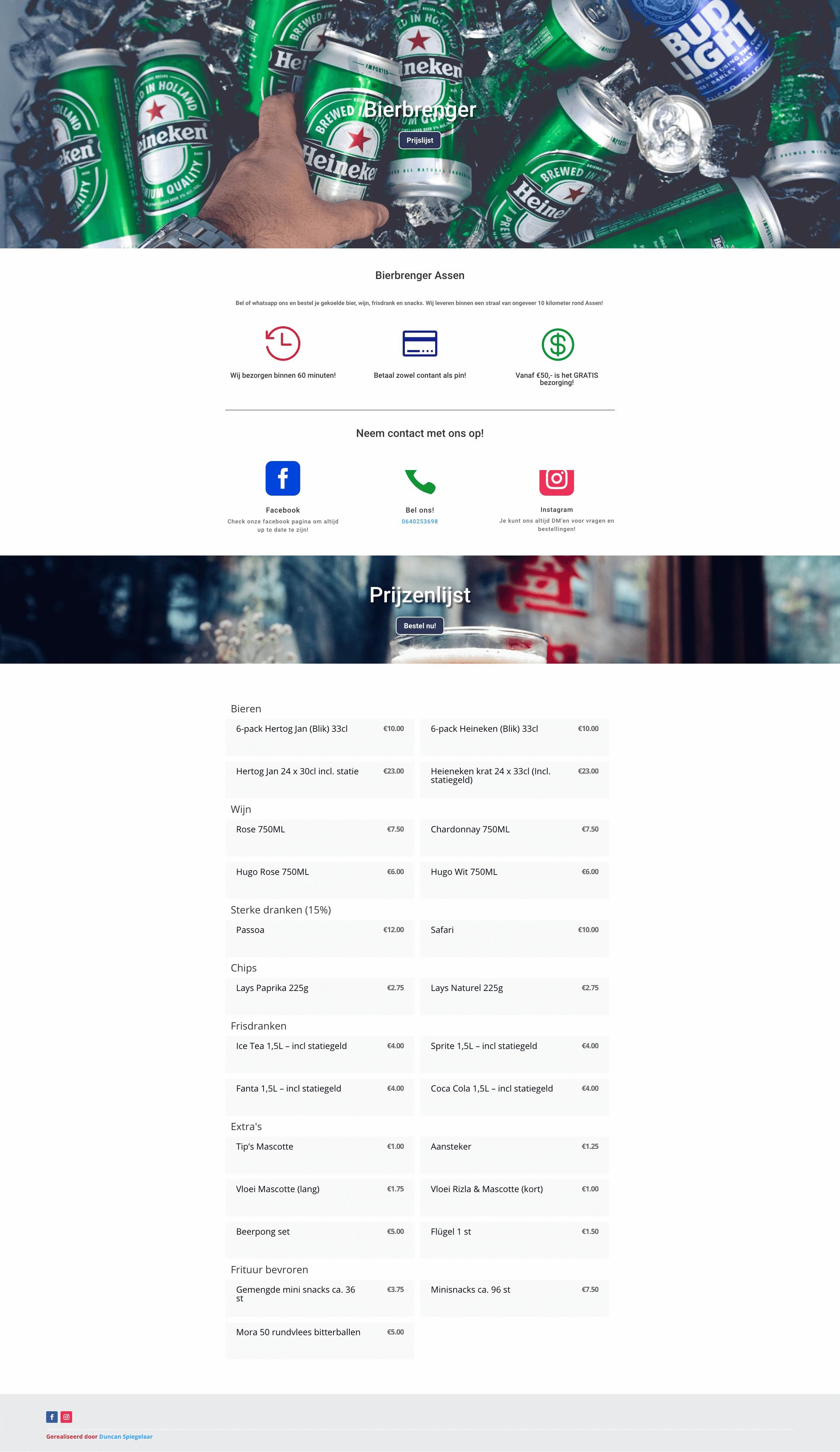 Website van de straal soda